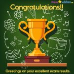 congratulations for getting good marks in result
