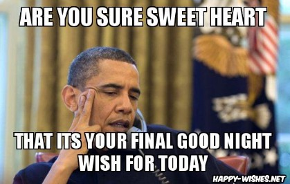 Funny good night obama