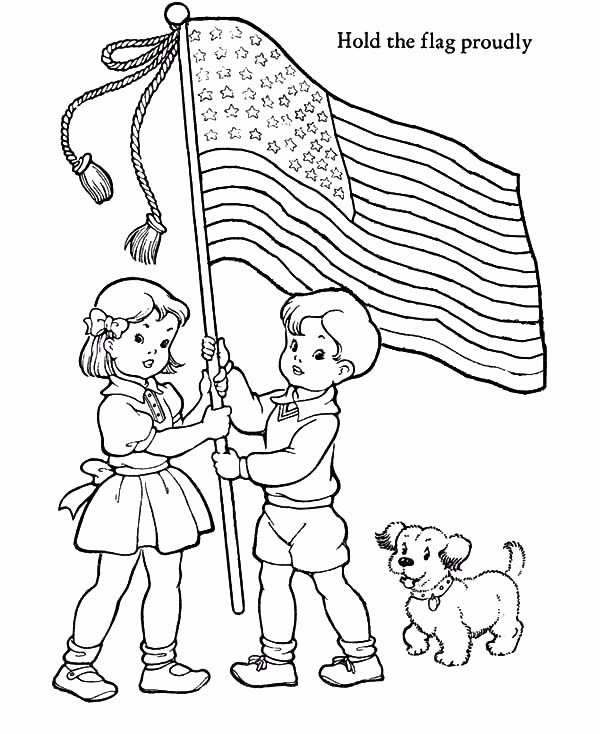 Patriot Day Coloring Images american flag