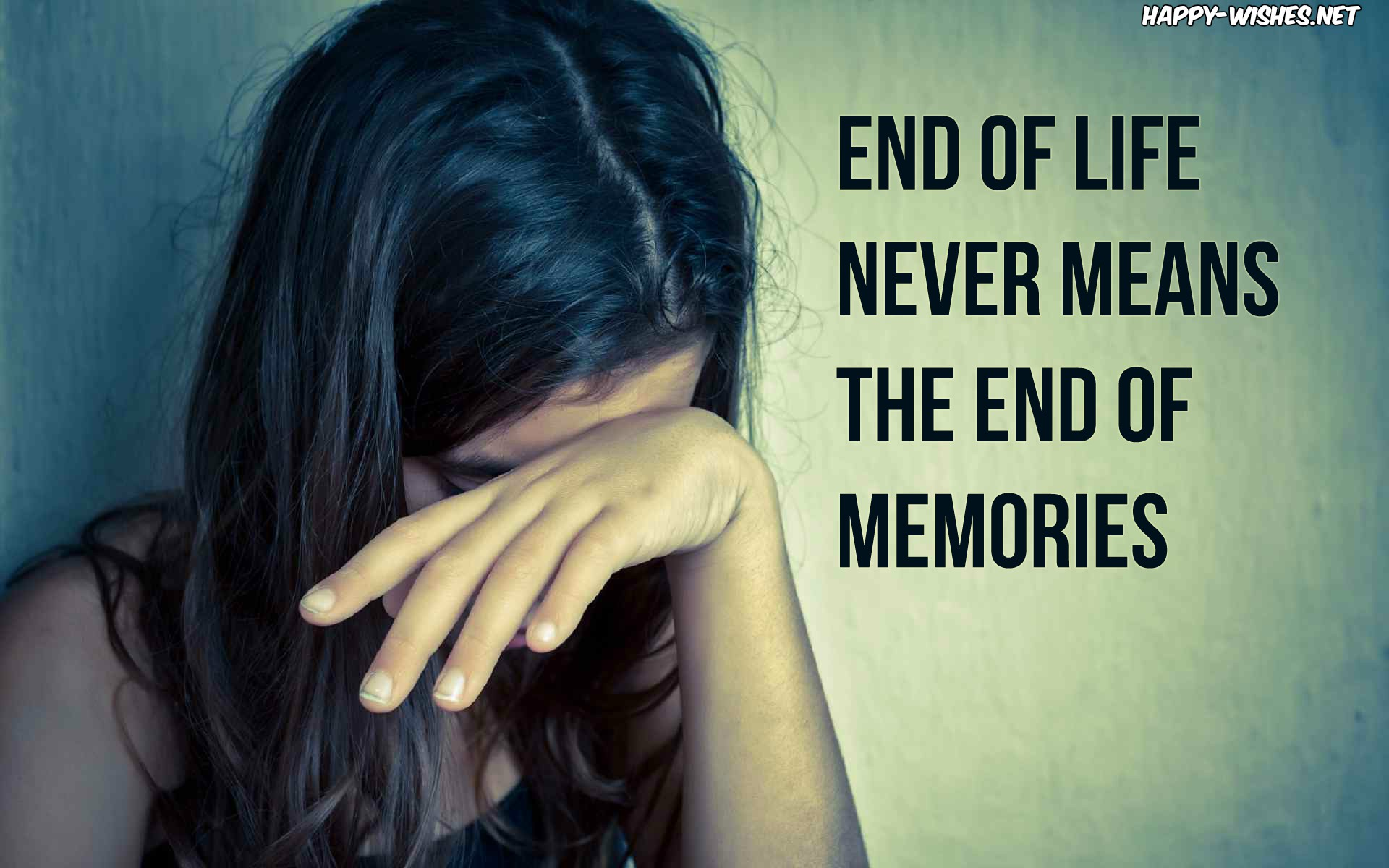 Weeping girl sad quotes about losing a loved one