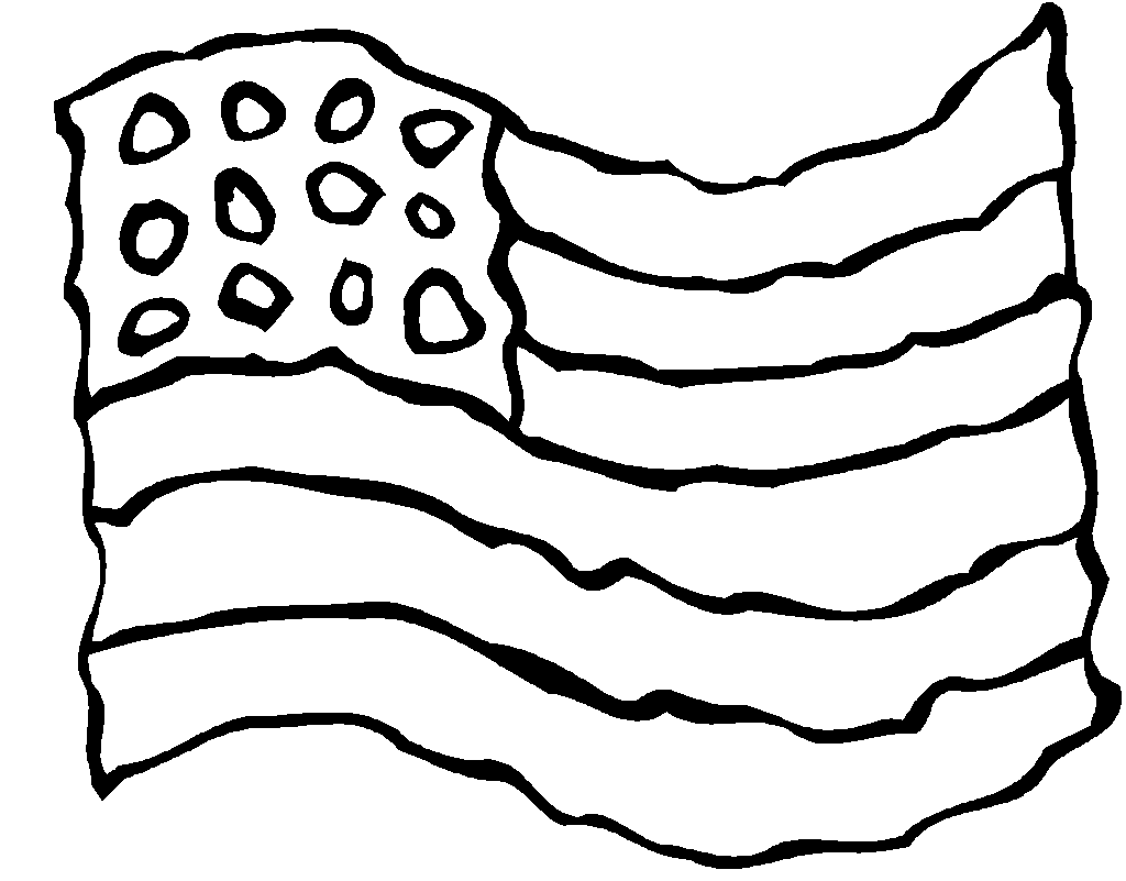 Patriot Day Coloring Images of aMaerican flag