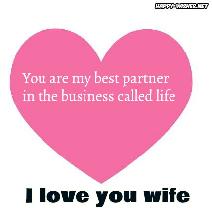 best I love you wishes for wife