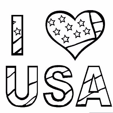 Patriot Day Coloring Images i love usa