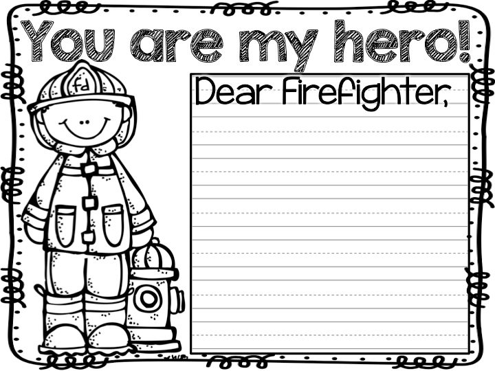 Patriot Day Coloring Images of firefighter