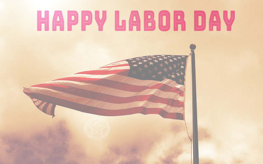 Happy Labor Day Flag image