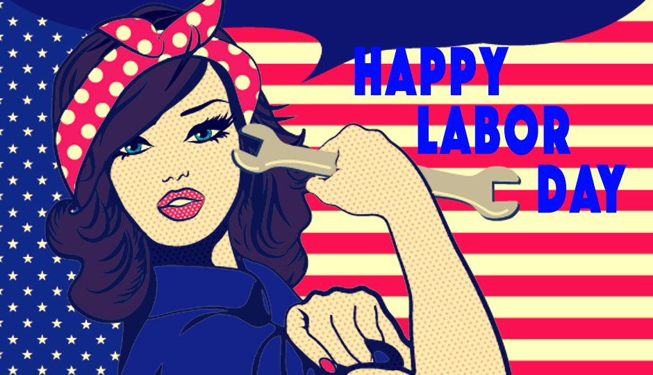 Happy Labor Day image girl