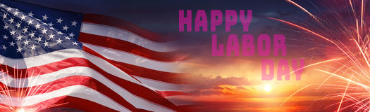 Labor Day Banner Image with flag