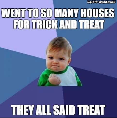 Treat on Halloween meme