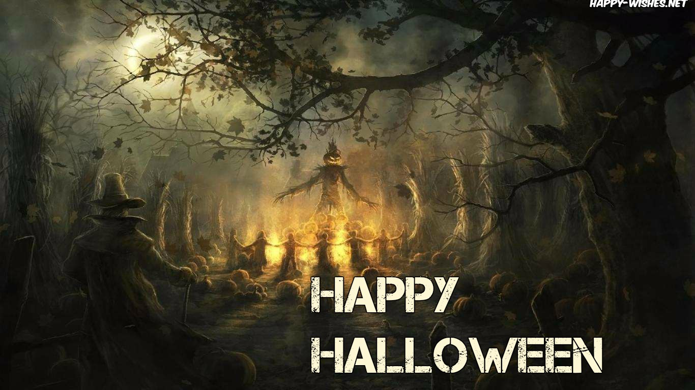 Scary images of Halloween
