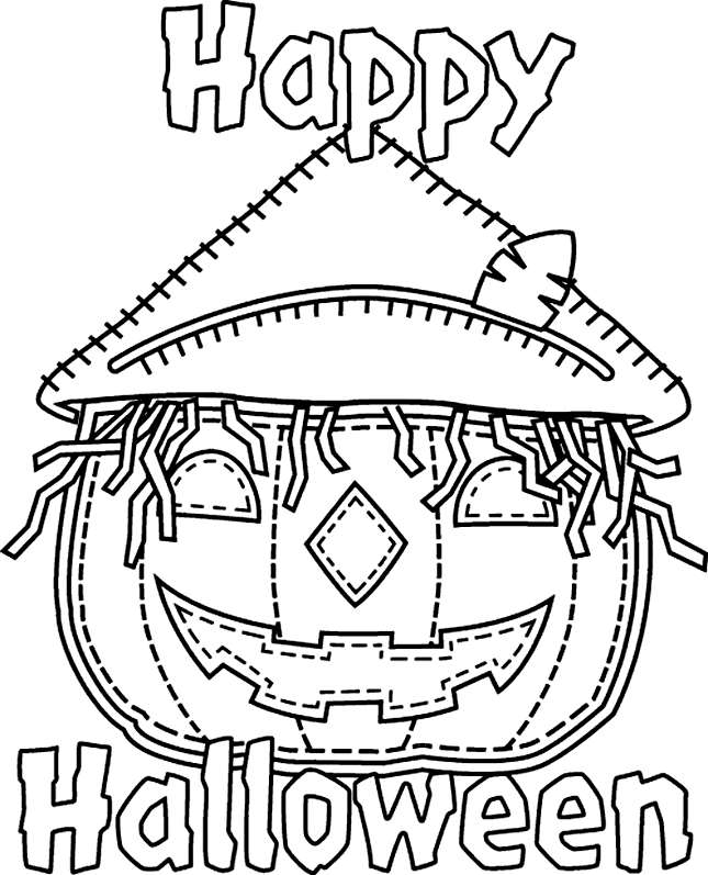 Best Happy Halloween Coloring Pages Printable