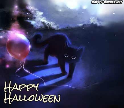Black cat images on Halloween