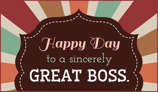 Best Happy Boss's Day wishes
