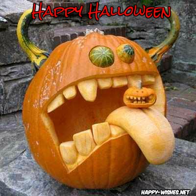 Scary Happy Halloween Pumpkin Images