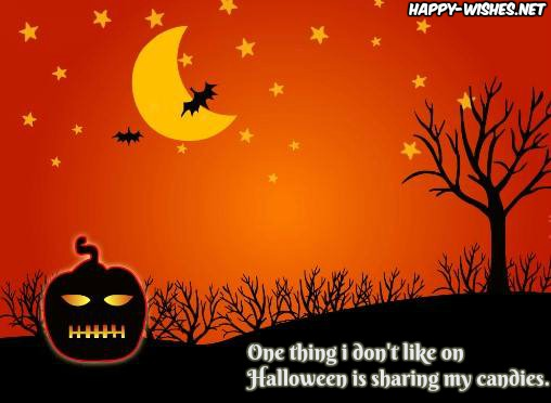 Funny halloween message for kids