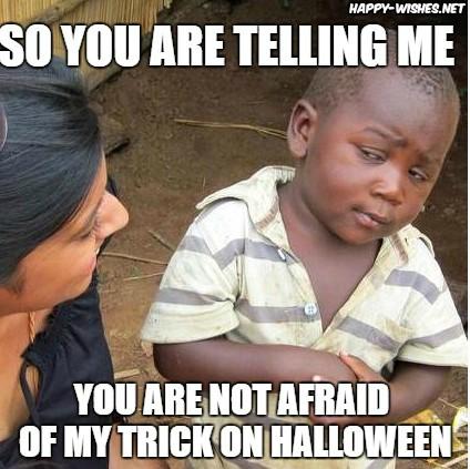 Halloween memes of a girl