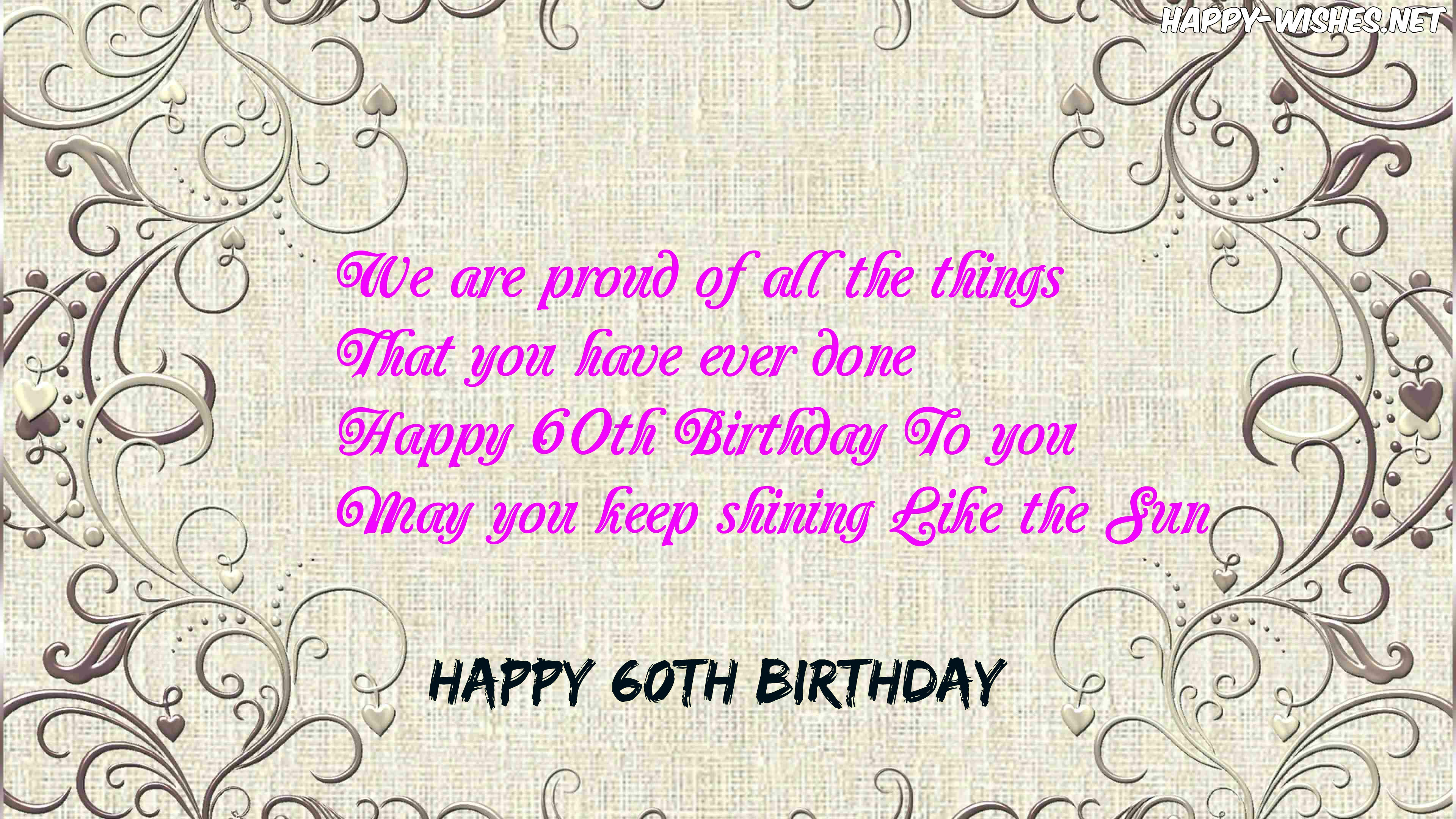 Happy 60th birthday Inspirational quotes