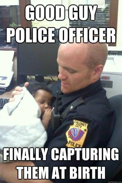 Racist cop images