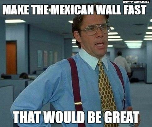 Meme On Mexican Wall