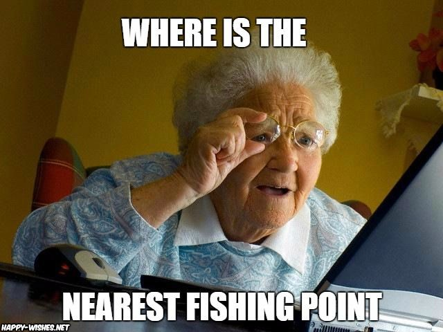 Searching for fishing point meme