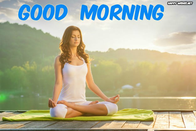Beautiful Girl Doing Yoga Good Morning images