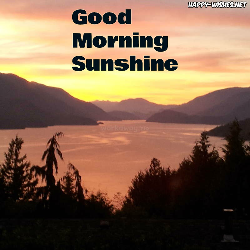 Beautiful view Good morning sun shine images - Copy