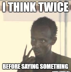 Black guy thinking meme