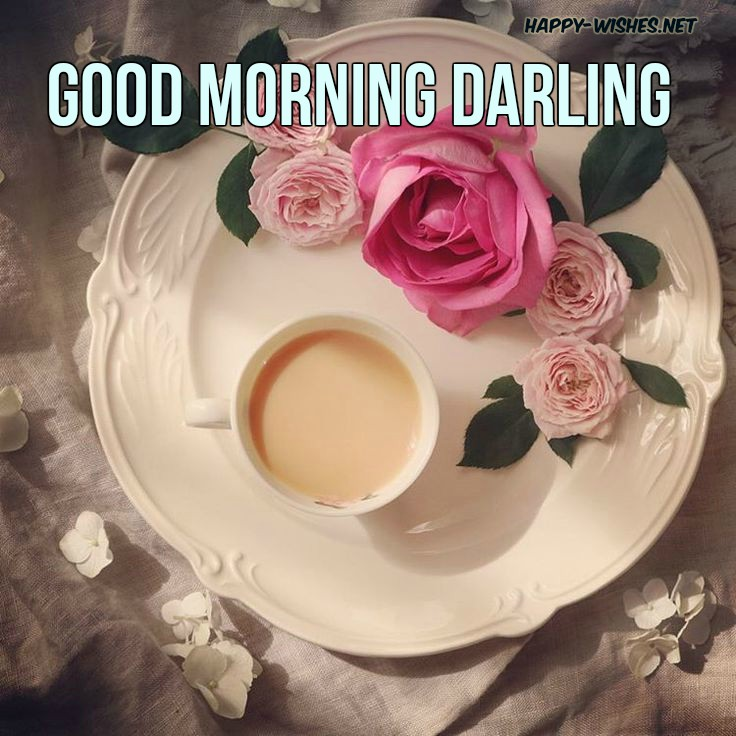 Coffe and Roses Goodmorning Darling images