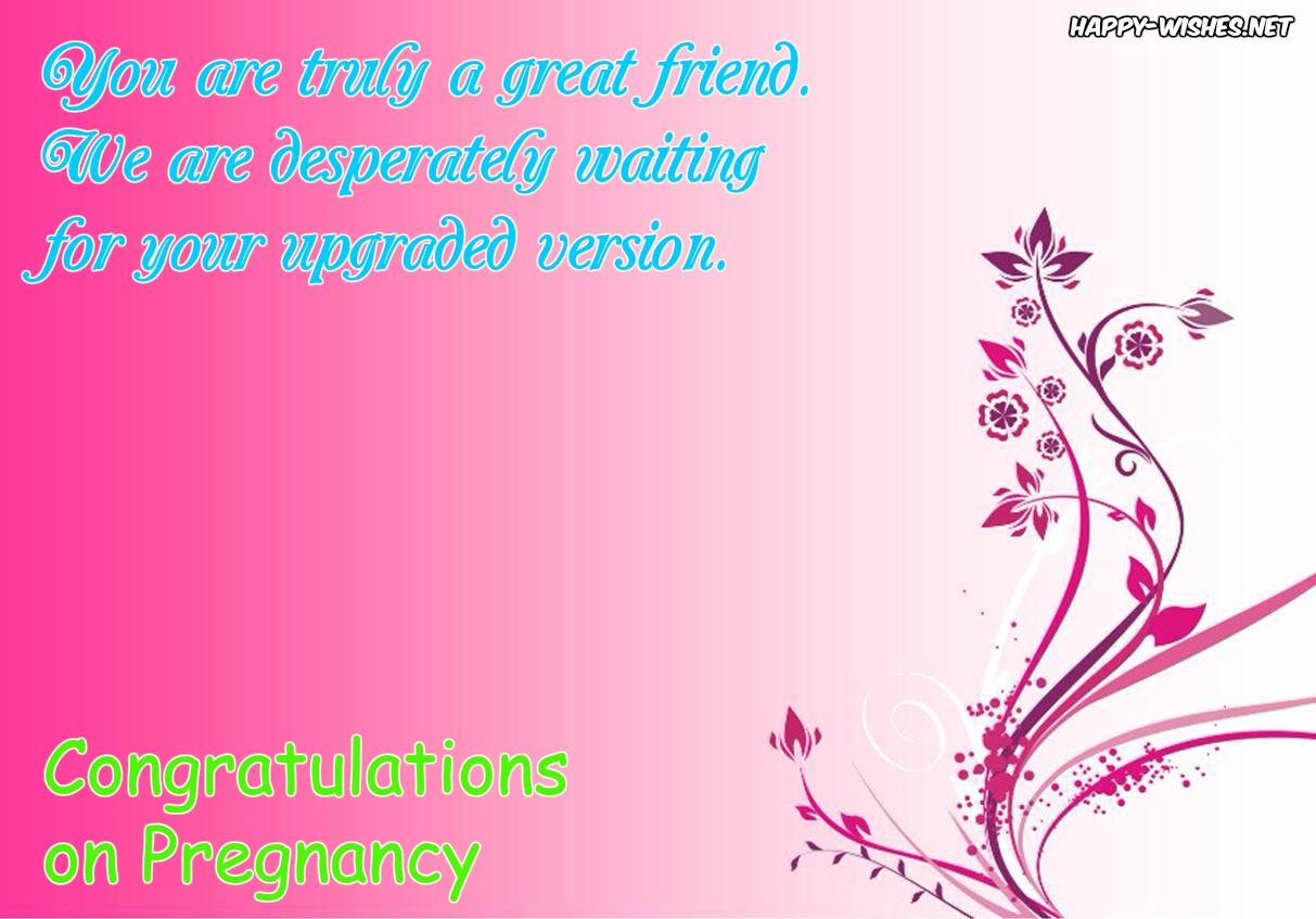 Congratulations on Pregnancy