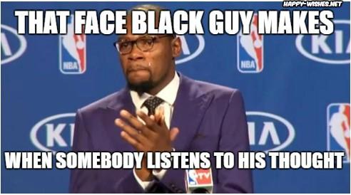 Face of black guy