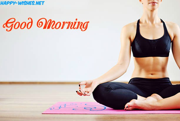 Fitness Girl Doing Yoga Good Morning images