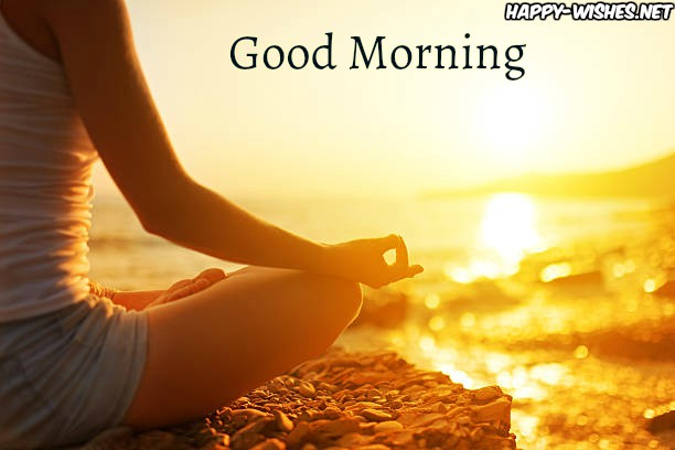 Girl Doing Morning Yoga in Sun shine images