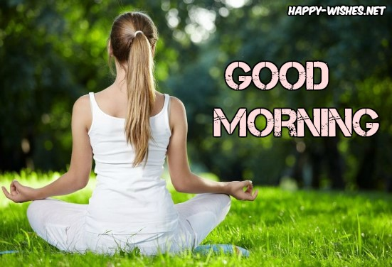 Girl Doing Yoga Greenary Good Morning Images