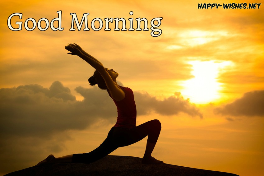 Girl doing Yoga Streching Good Morning images