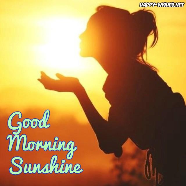 Girl soaking sun rays Good morning sunshine images