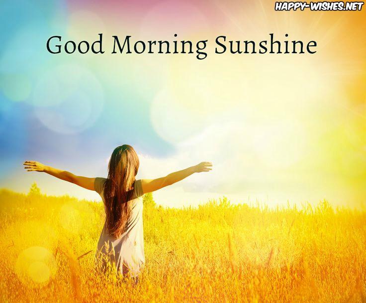 Girl strestching arm Good morning sun shine images