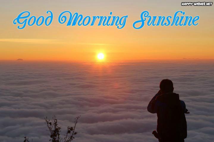Girl watching sun shine Good morning images