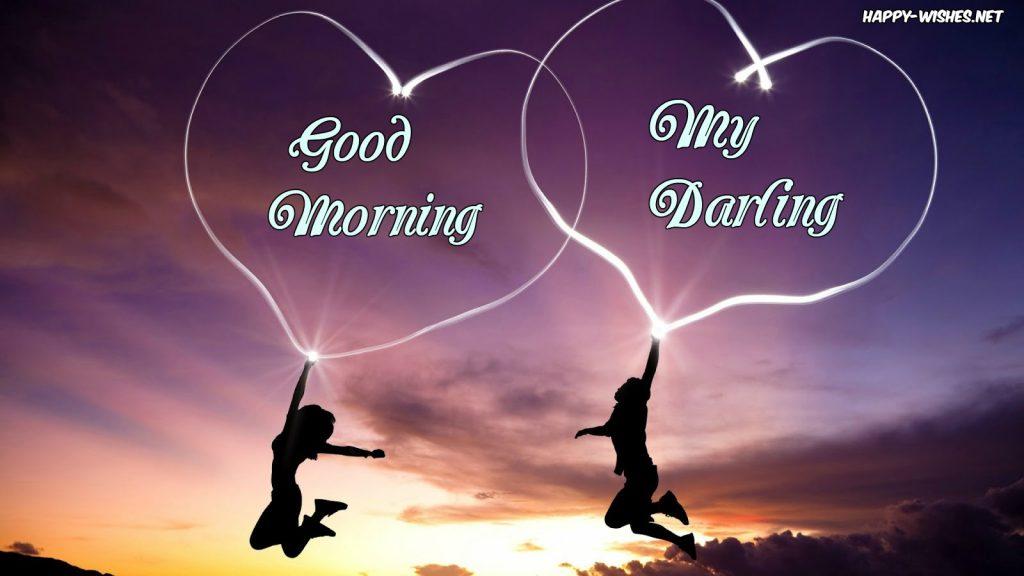Good Morning Darling heart shape images
