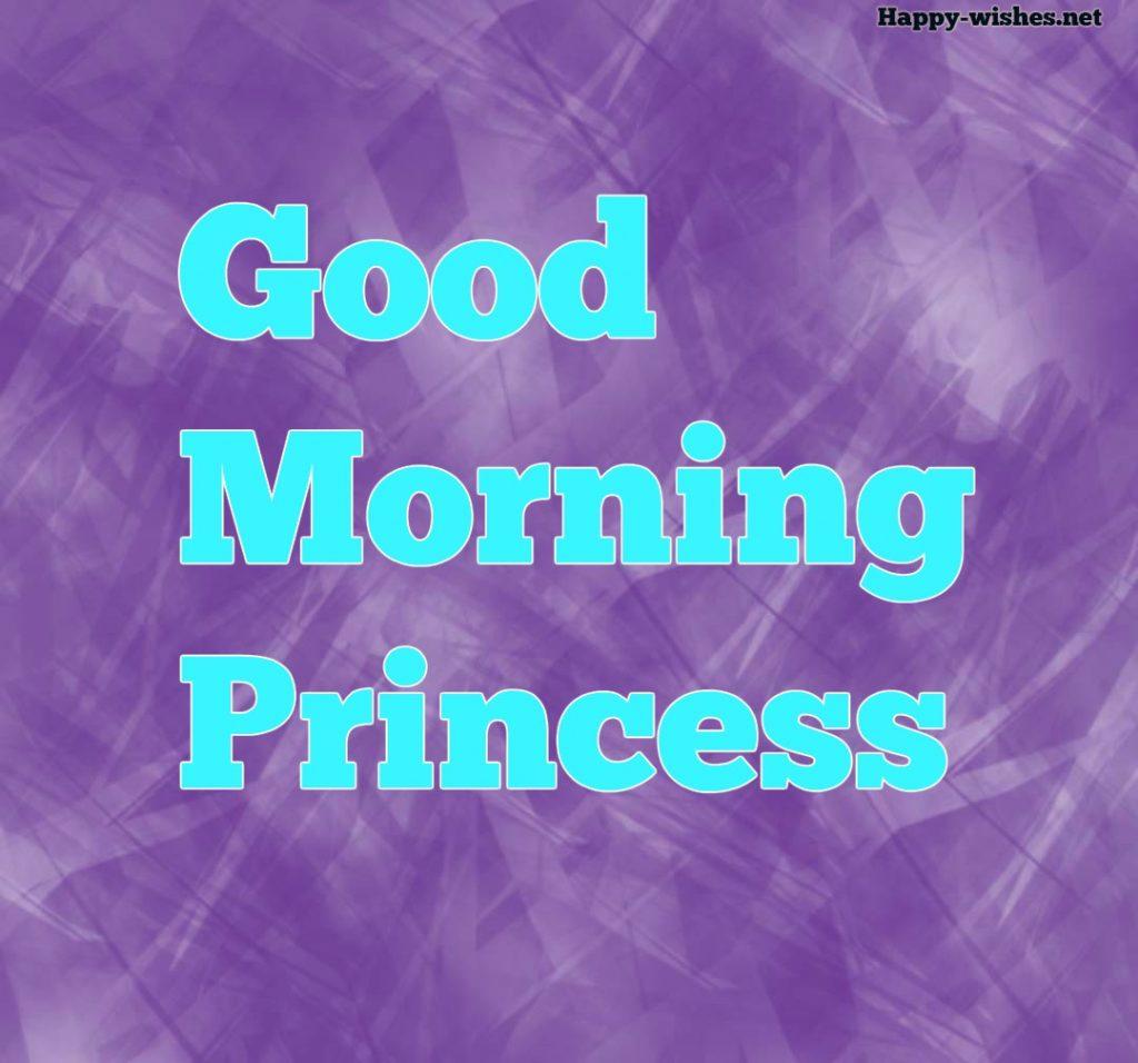 Good Morning Princess Images with Violet Back ground images
