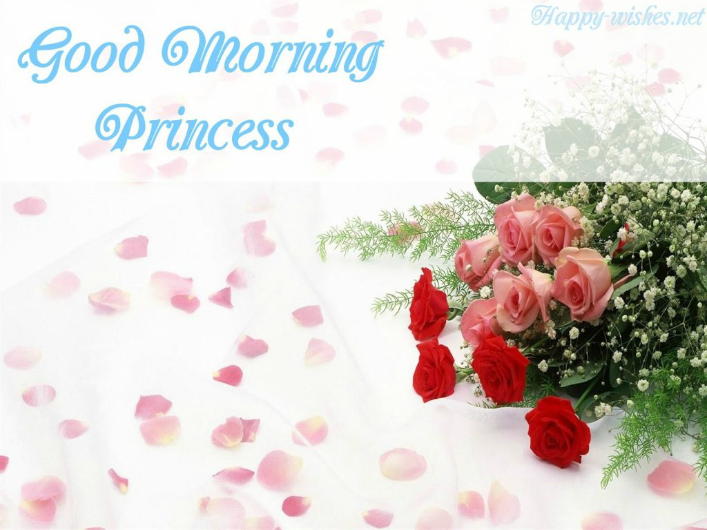 Good Morning Princess Wishes Red Roses Images