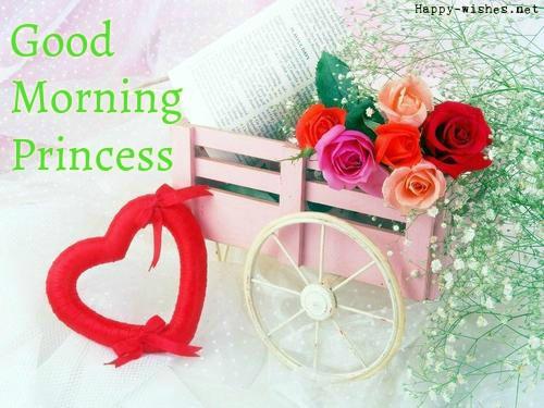 Good Morning Princess Wisheswithcuterosesimages