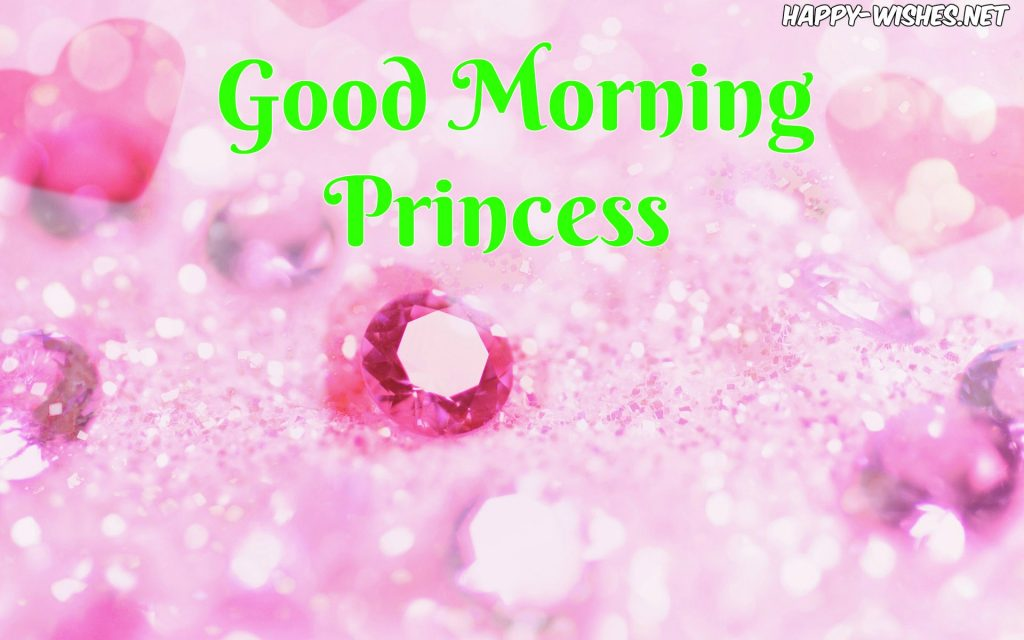 Good Morning Princess images with Heart in Background Images