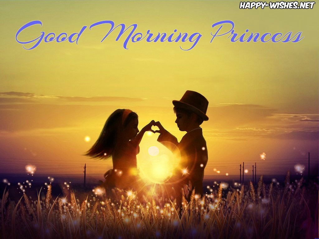 Good Morning Princess wishes with cute kid images