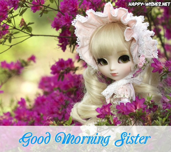 Good Morning Sister With Cute Doll Images