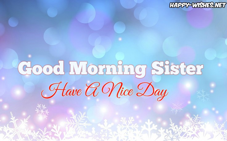 Good Morning Sister With Glossy Back ground images