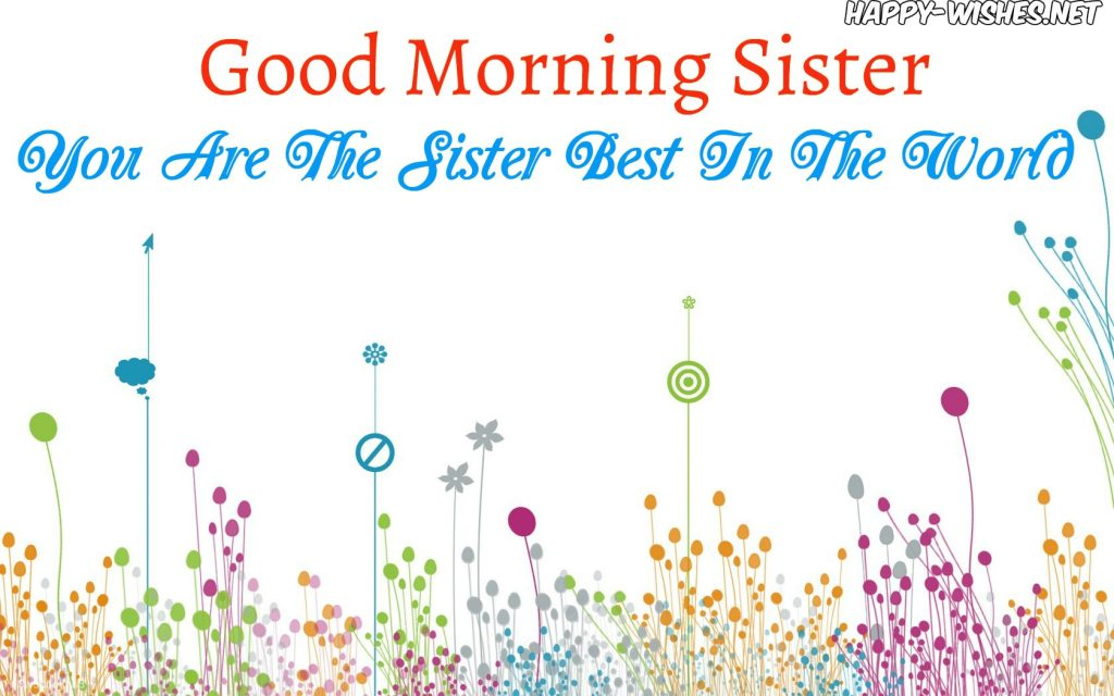 Good Morning Sister with Cute background images