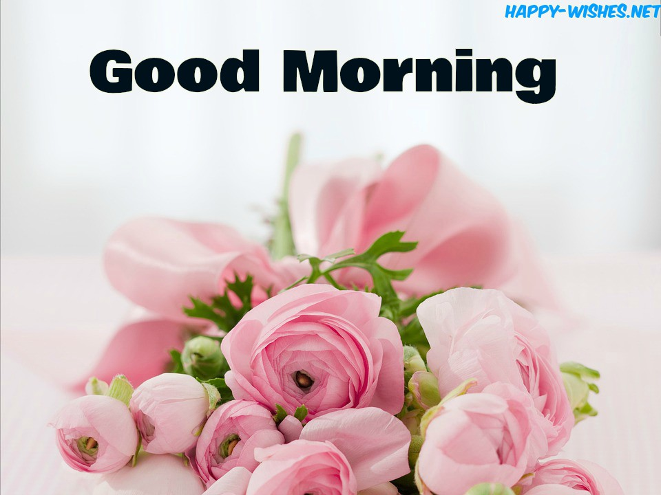 Good Morning Wishes With Pink Roses Pictures