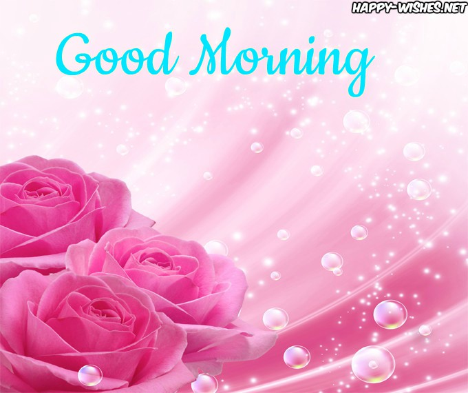 Good Morning Wishes With Rose And Tea Cup Pictures