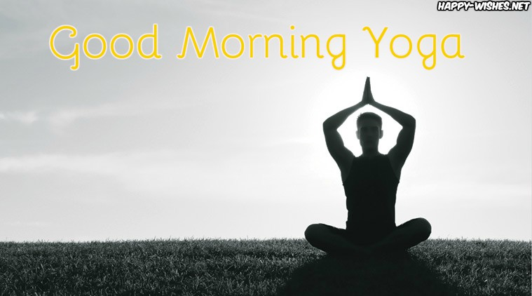 Good Morning Wishes with Yoga Pictures