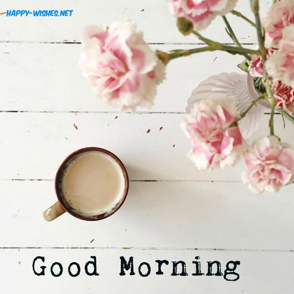 Good Morning Wishes with coffee Roses images
