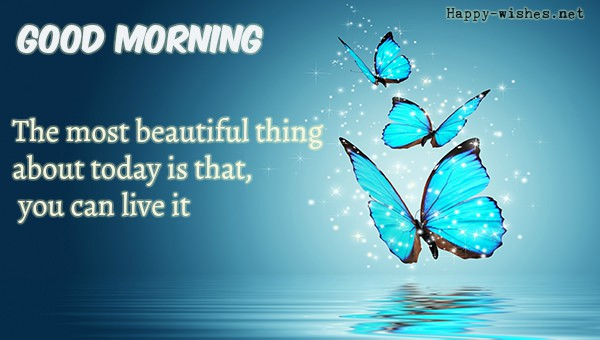 Good Morning images with Shining Butterfly